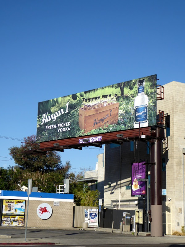 Fresh-picked Hangar 1 vodka billboard