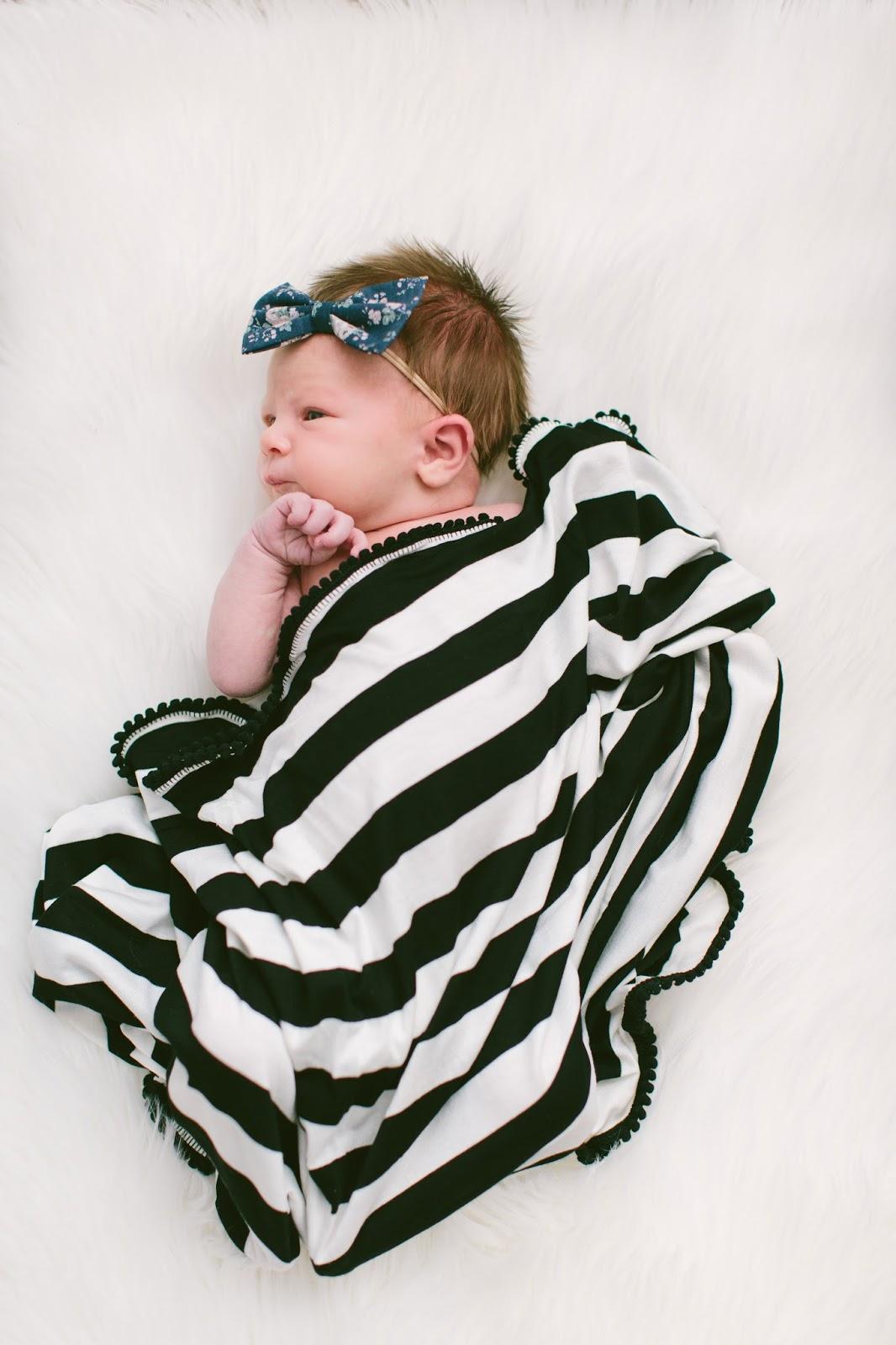 Charley Charles Shop, Pom Pom Blanket, Newborn Style