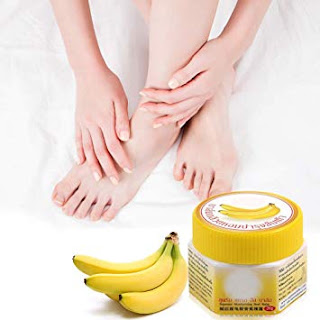 banana helps to prevent from cracked heels