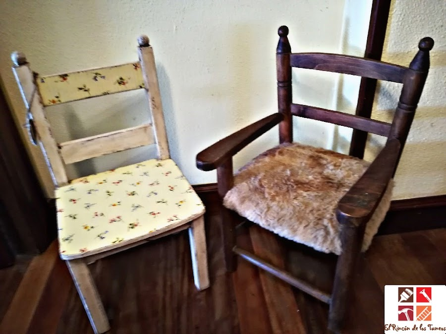 como tunear una silla de madera