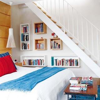 dormitorio bajo escalera