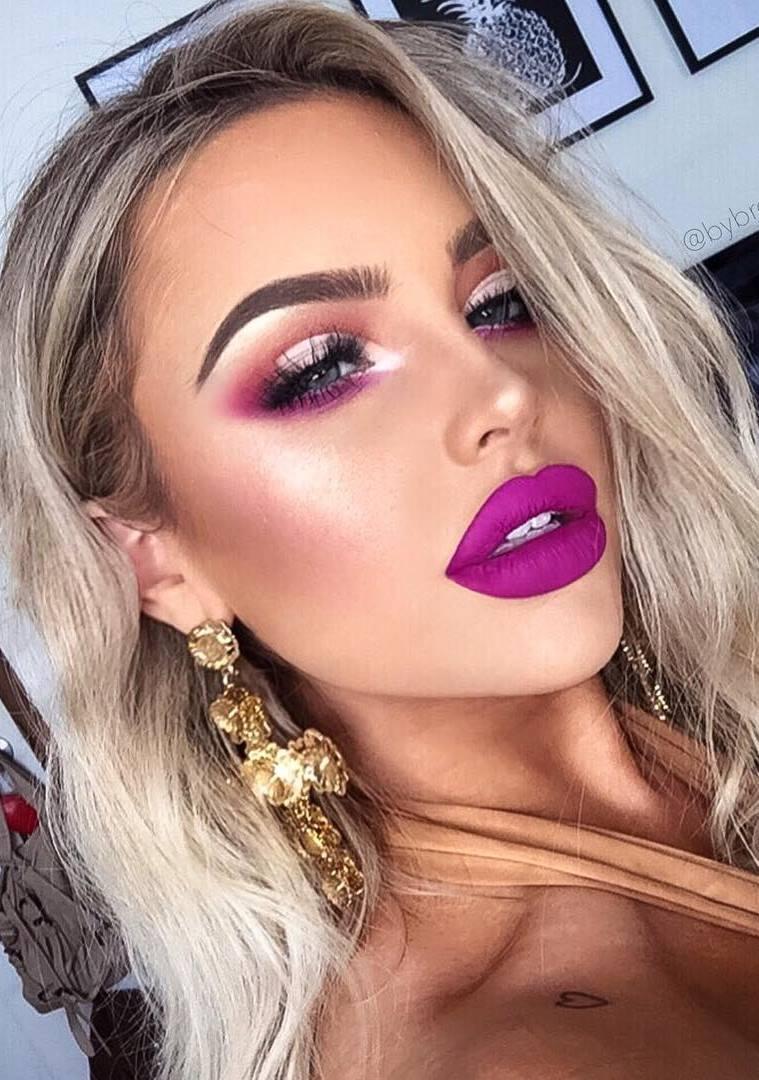 purple make up idea