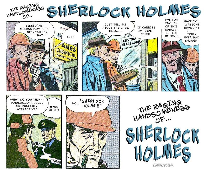 Sherlock Holmes, handsome ego, parody, Gerry Lagendyk