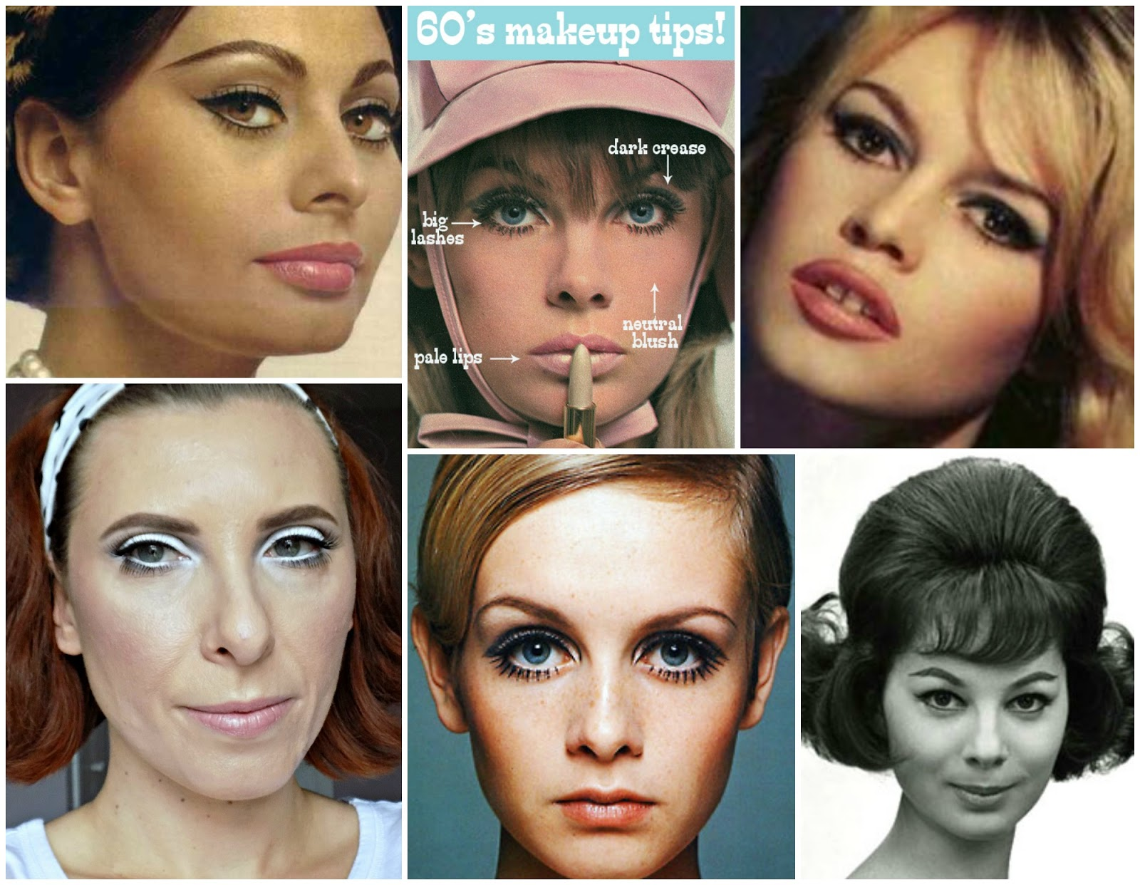 Cool Makeup Through The Decades 5 1960S Mummys Beauty Corner Hairstyles For Women Draintrainus