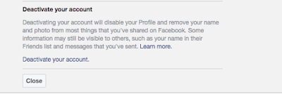 Deactivate your Facebook account