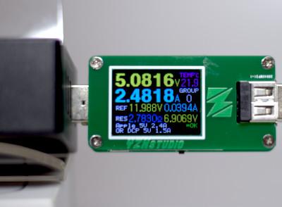 Parametry złącza SMART ładowarki GreenCell wg miernika