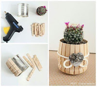 Manualidades con palillos de madera reciclados