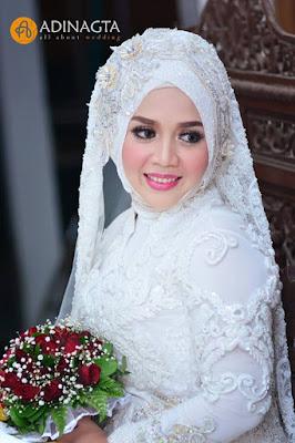 Tampilan Riasan Pengantin dengan Hijab