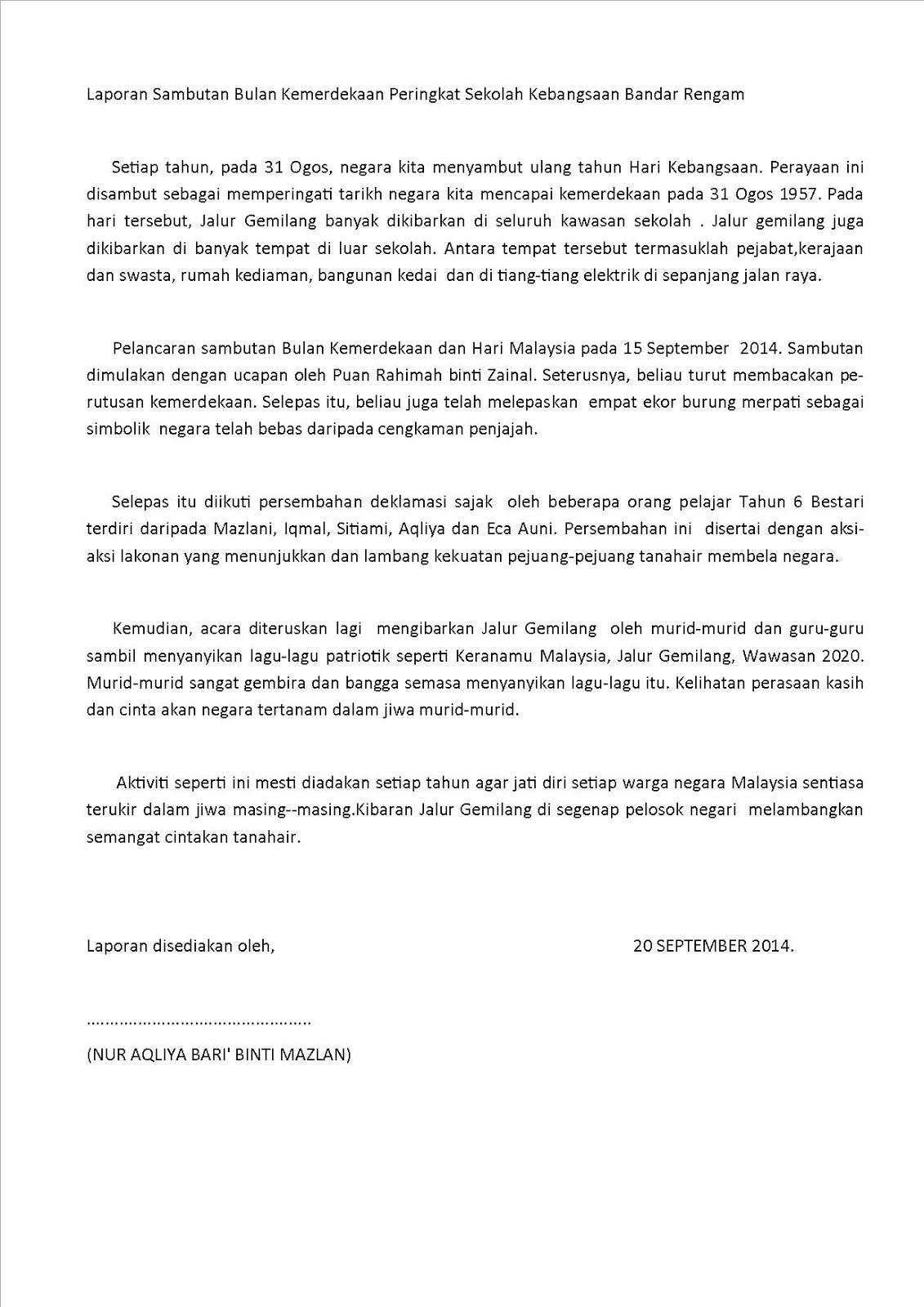 Contoh Karangan Surat Rasmi Bm Surat Rasmi E