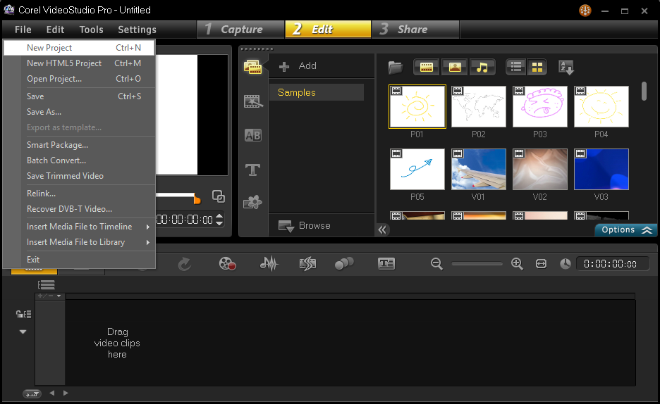 Cara Menyimpan Hasil Project Corel Video Studio 1