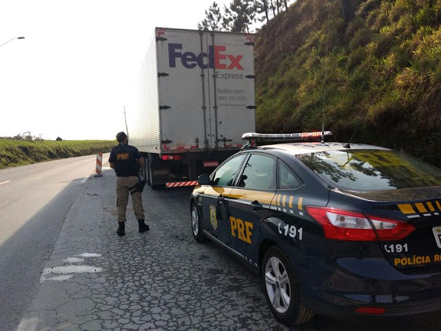 PRF encontra caminhão com carga avaliada em quase dois milhões de reais na Régis Bittencourt
