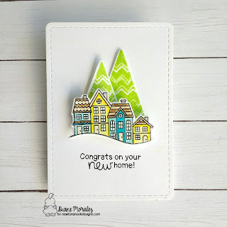 Congrads a card by Diane Morales| Snow Globe Scenes Stamp Set by Newton's Nook Designs