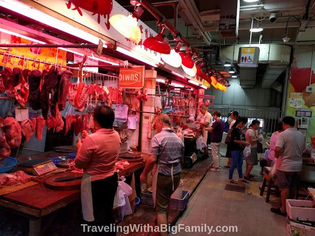 Visiting meat markets and fish markets in Hong Kong