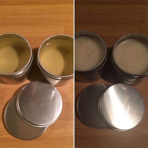 afkoelen bijenwas kokosnoot olie crème