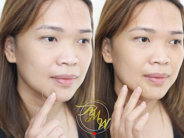 a photo on how to apply Make Up For Ever Full Cover Extreme Camouflage Cream