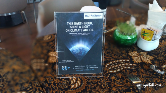 Merayakan Earth Hour & Staycation Di Best Western Premier The Hive