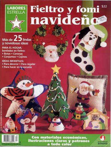 Fieltro y fomi navideño Nro. 57