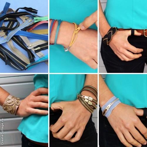 pulseras, brazaletes, cremalleras zipper, diys, bisutería