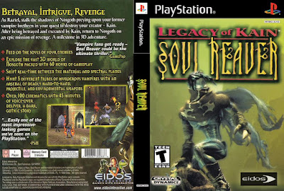 Jogo Legacy Of Kain Soul Reaver PS1 DVD Capa