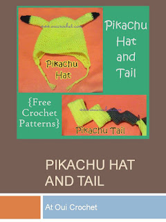 http://www.ouicrochet.com/2015/04/pikachu-hat-and-tail-free-crochet.html