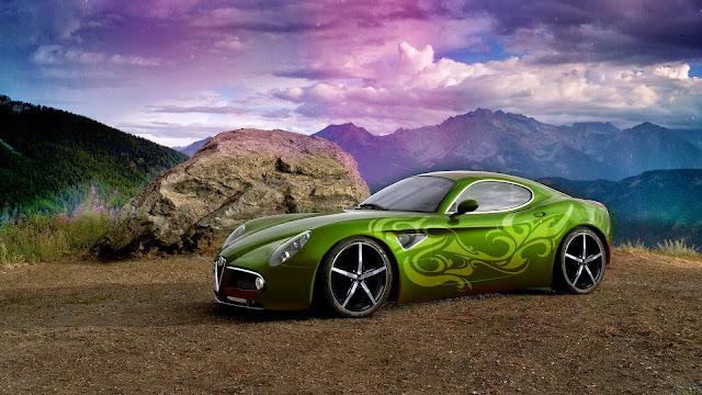 Fondo Alfa Romeo Verde