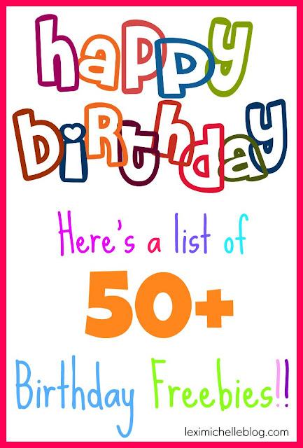 50+ birthday freebies
