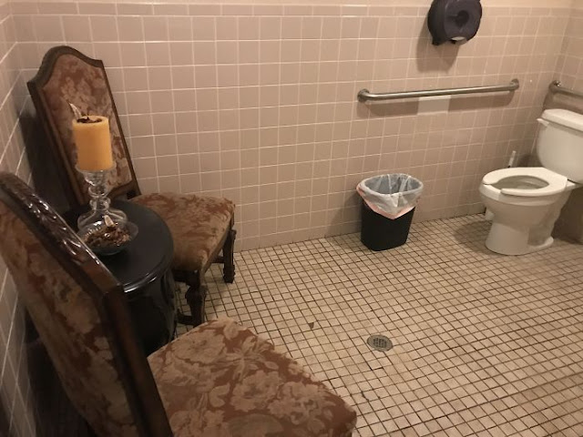 This Waiting Area For The Toilet