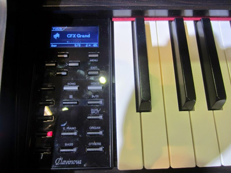 Yamaha CLP545 digital piano control panel