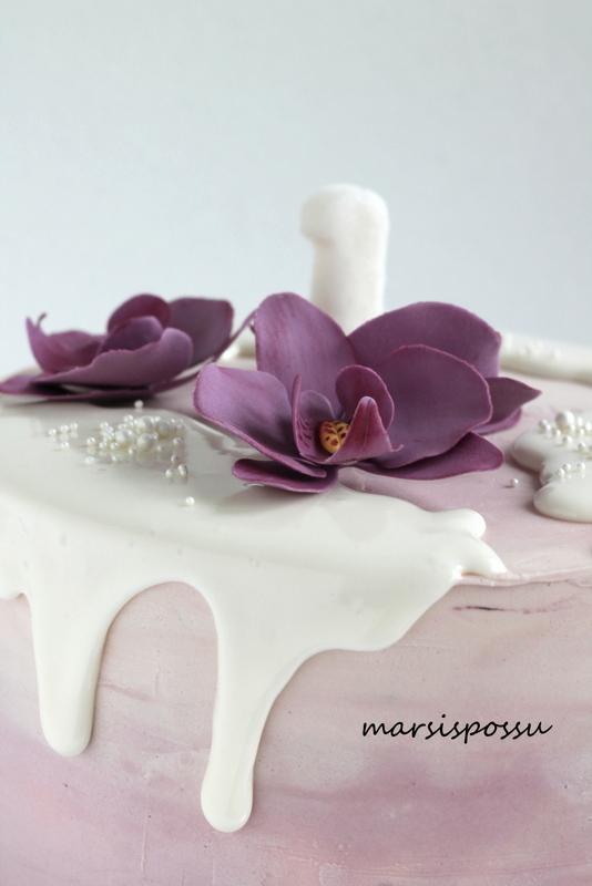Orkideoita 1-vuotissynttäreille