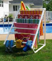 Ideas con tubos de PVC - porta toallas