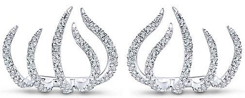 Gabriel NY 14k White Gold Stud Diamond
