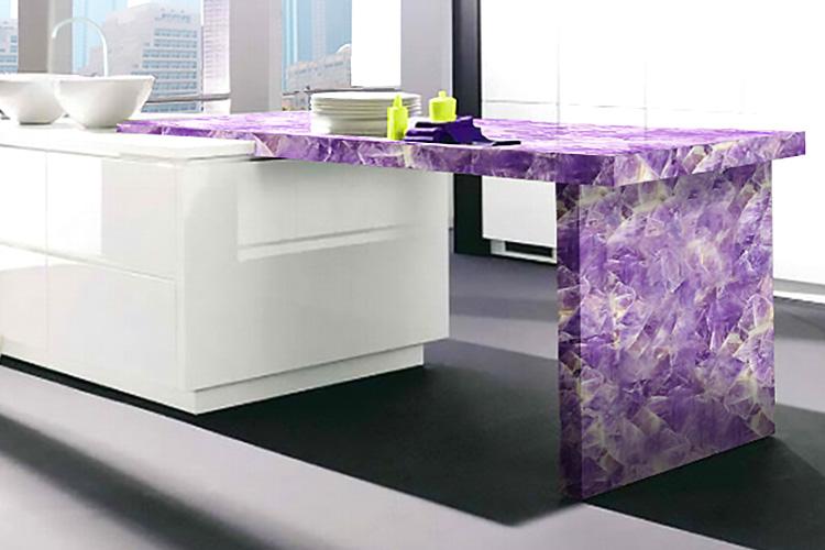 Amethyst Gemstone Countertops Kitchen Bathroom