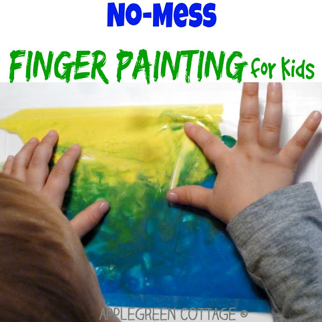 arts and crafts for kids with ziplock finger painting