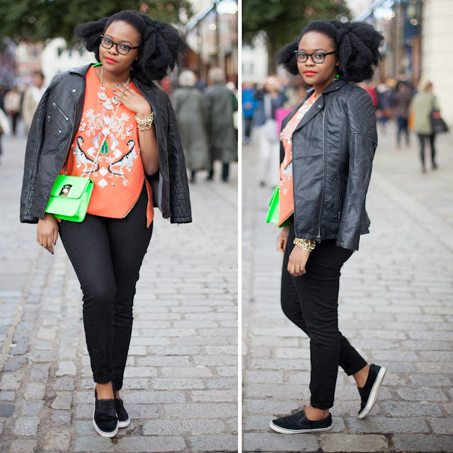 Ngoni Chikwenengere London Fashion Week Afro hair Blogger