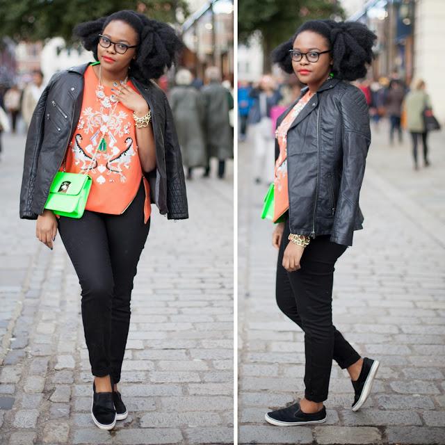 Ngoni Chikwenengere London Fashion Week Afro hair Blogger