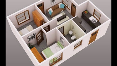 Desain 3D Rumah Minimalis Type 21 Dengan Tampilan Modern 2