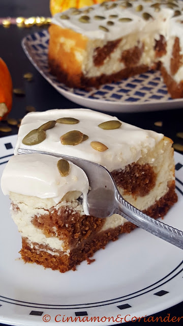 Pumpkin Cake Cheesecake