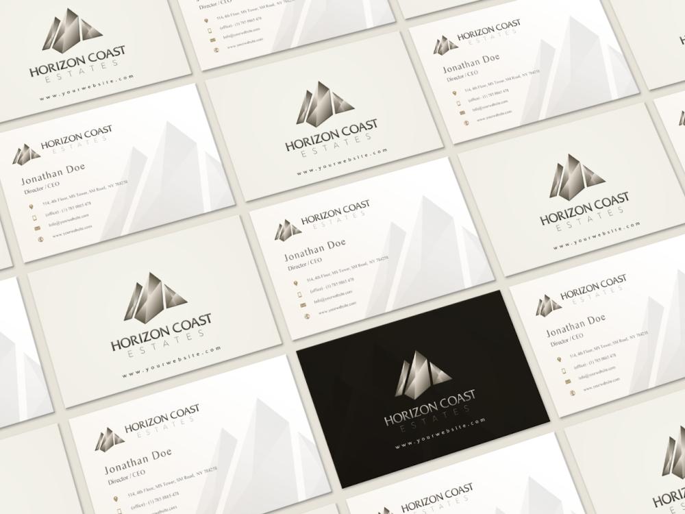 Business Cards Design Horizon Coast Estates