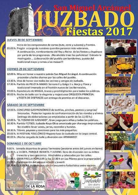 Juzbado, fiestas 2017