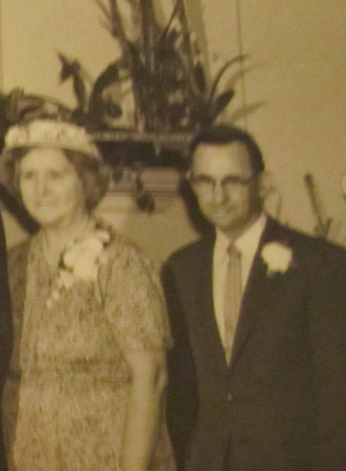 Climbing My Family Tree: Carl & Anna at my father's wedding - cropped from couple & parent's photo