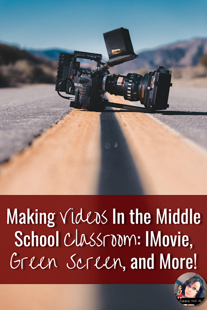 Want to make videos in your middle school classroom but don't know where to start? Read here to learn the tips, tricks, and resources you need to engage your students! #video #greenscreen #middleschool #imovie