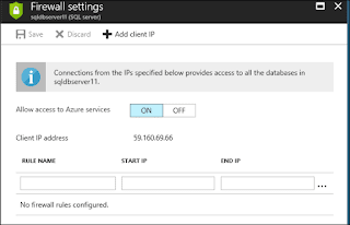 set firewall rules in Azure SQL Database
