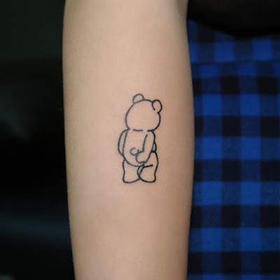Cute Teddy Bear Tattoo