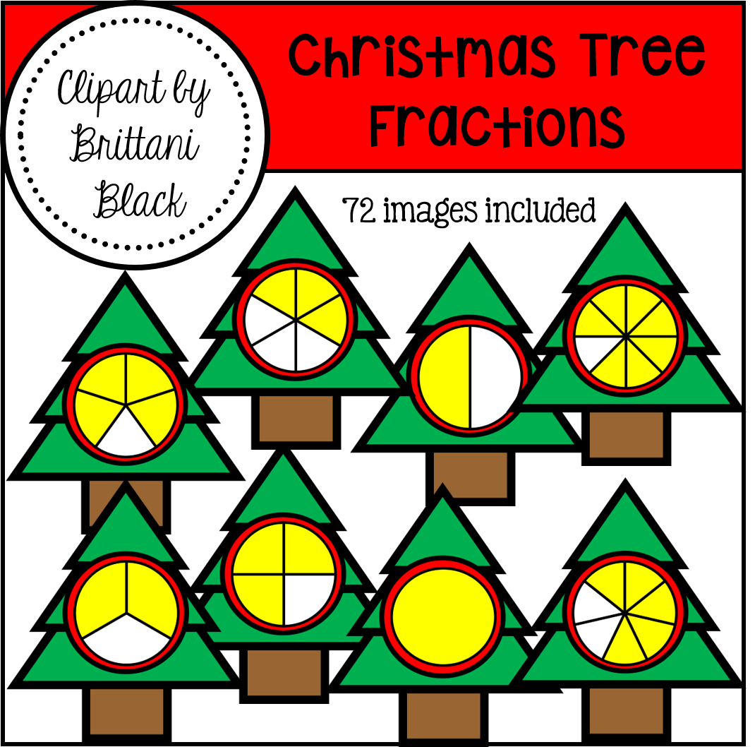 Printables Christmas Fractions mrs blacks bees may 2016 i have chosen two of my fractions clipart packs apple and christmas tree both sets are 50 off