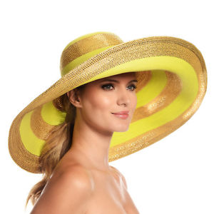 Eric Javits Women's Luxury Headwear Stripe Dip Brim Hat