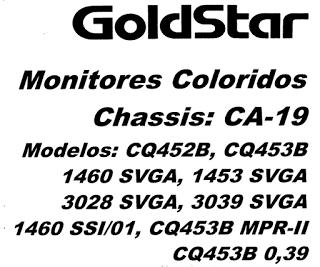 Skema TV GOLDSTAR CA-19