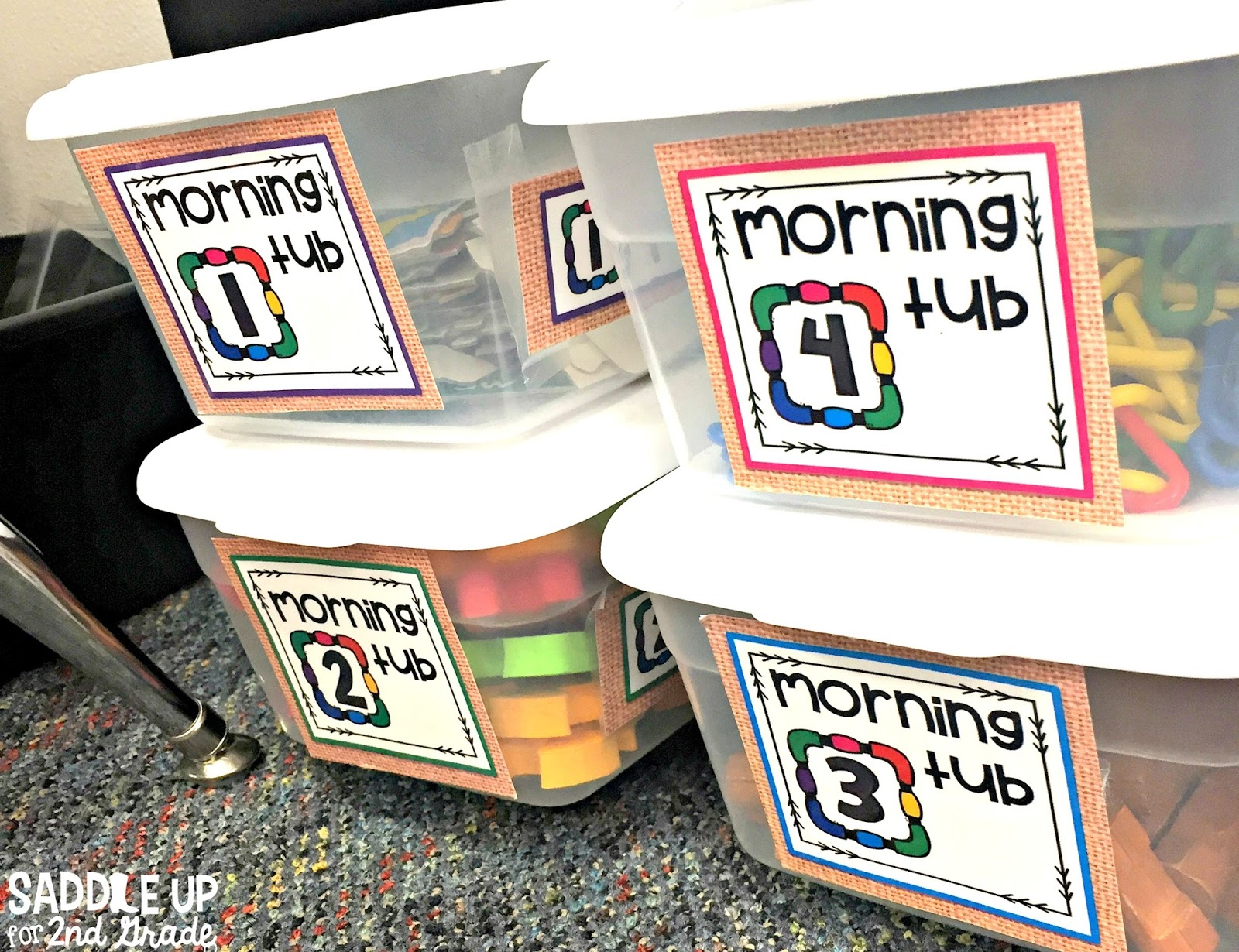 Morning Tubs have taken the place of traditional morning work in my classroom. This blog post features items from Oriental Trading that have allowed students to explore the power of learning through play.