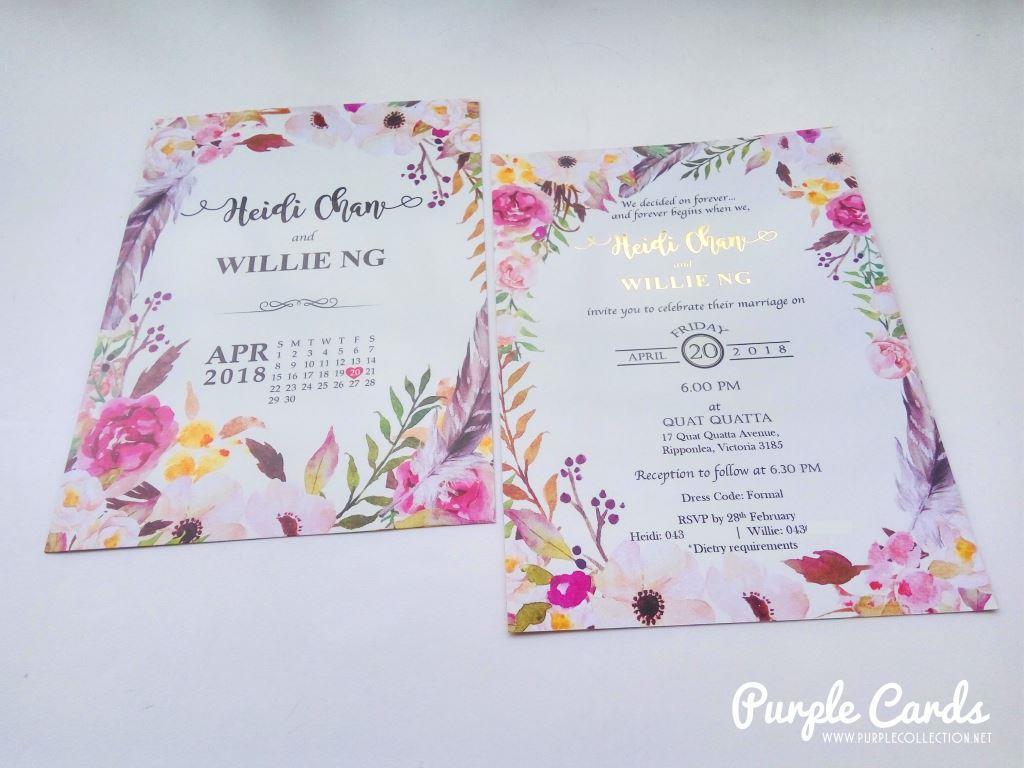 Wedding Card Malaysia by PurpleCollection - Modern Invitation Card
