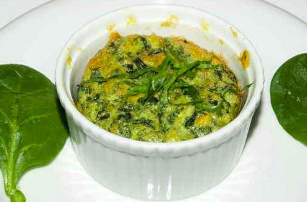 Souffle de verduras en microondas