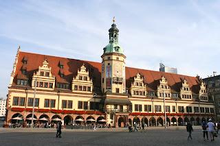 Markt Leipzig mit dem alten Rathaus